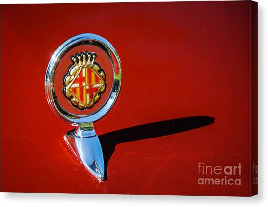 Hood Ornament On Matador Barcelona II Coupe Canvas Print
