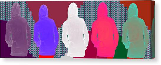 Hoodie Canvas Print - Hoodie Gang Graffiti Fashion Background Designs  And Color Tones N Color Shades Available For Downlo by Navin Joshi