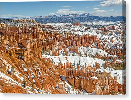 Hoodoos At Sunset Point Canvas Print