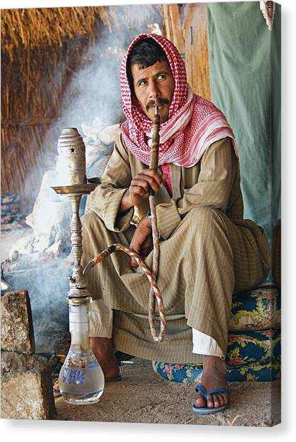 Hookah Smoker Canvas Print by Science Photo Library