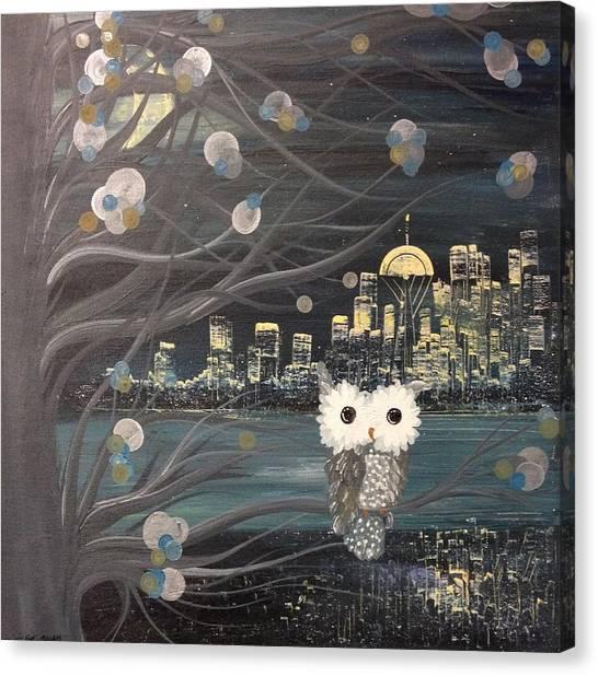 Hoolandia - Hoo's City 02 Canvas Print