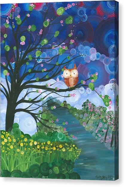 Hoolandia Seasons Spring Canvas Print