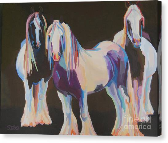 Draft Horses Canvas Print - Hooligans by Kimberly Santini