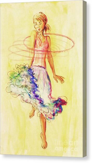 Hoop Dance Canvas Print