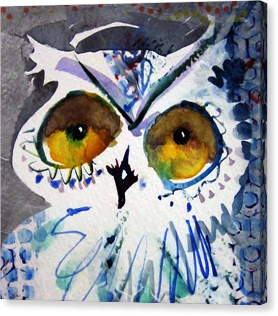Hoot Cropped Canvas Print