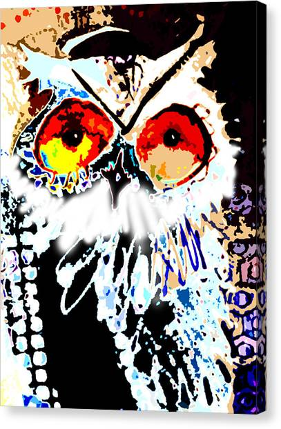 Hoot Digitized Canvas Print