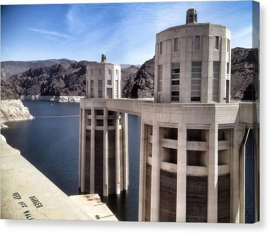 Hoover Dam Canvas Print by Derek Conley