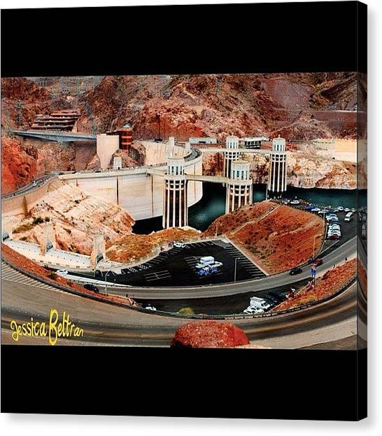 Supplies Canvas Print - Hoover Dam by Jessica Beltran