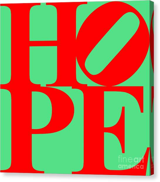 Hope 20130710 Red Green Canvas Print by Wingsdomain Art and Photography