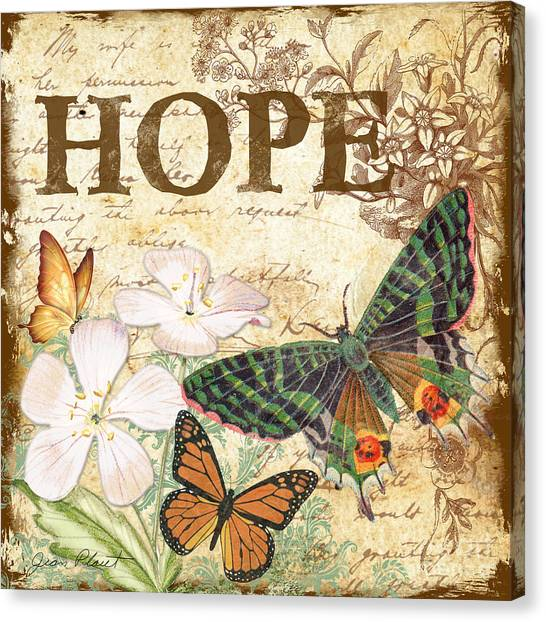 Hope And Butterflies Canvas Print