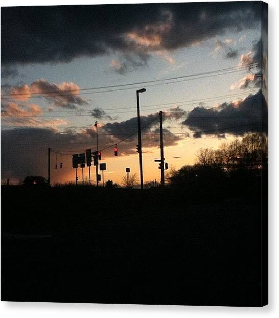Stoplights Canvas Print - Hope Everyone Is Having A Great Easter! by Sam Schwartz