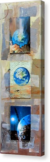 Junk Canvas Print - Hope For Humanity by Anita Burgermeister