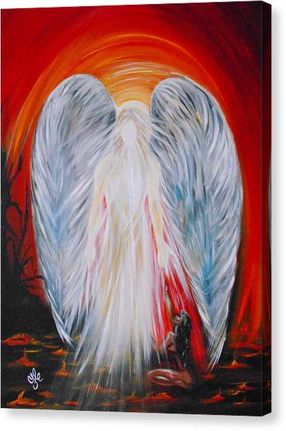 Hope In Hell - Michael Archangel Series Canvas Print