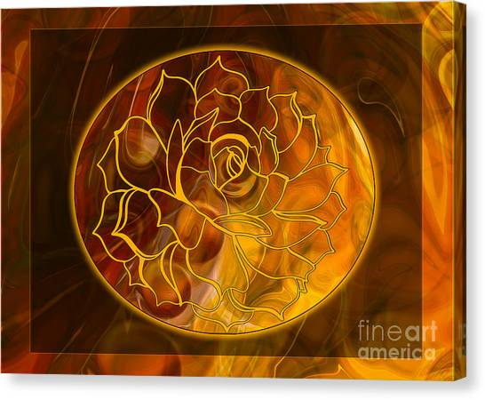 Canvas Print featuring the digital art Hope Springs Eternal Abstract Healing Art by Omaste Witkowski