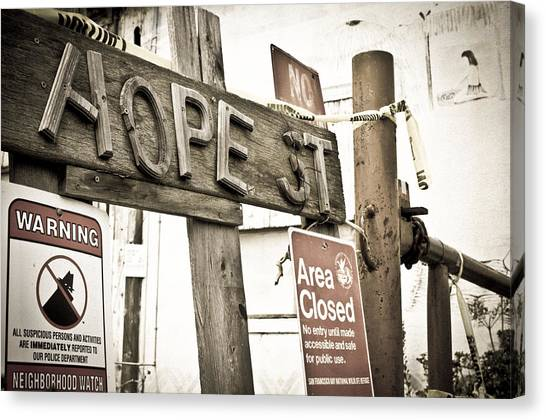 Canvas Print featuring the photograph Hope Street by Priya Ghose
