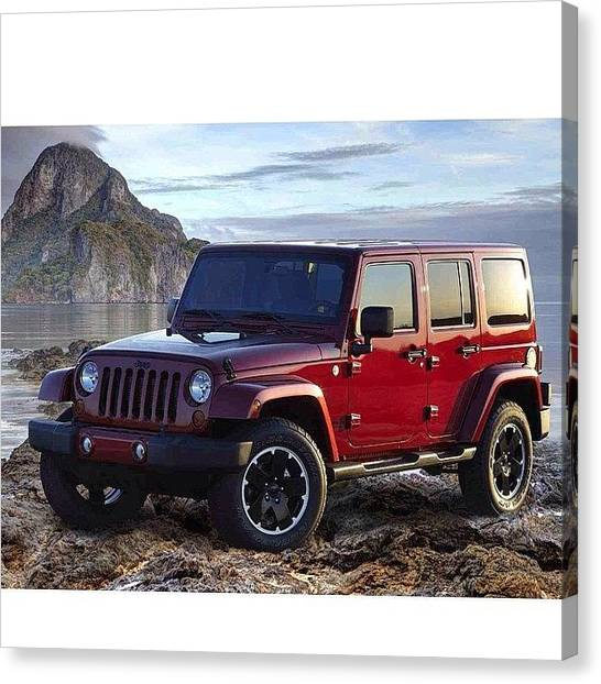 Offroading Canvas Print - Hopefully Getting This by Amber Theriault