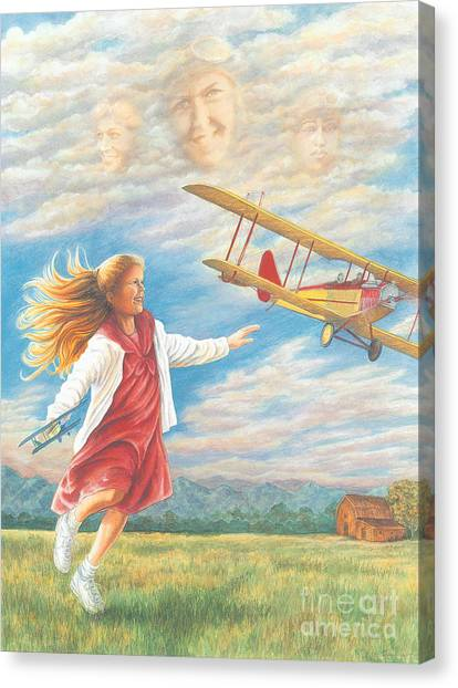Prop Planes Canvas Print - Hope's Flight by Laura Sapko