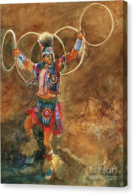 Hopi Hoop Dancer Canvas Print