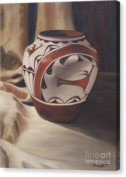 Hopi Pottery Canvas Print