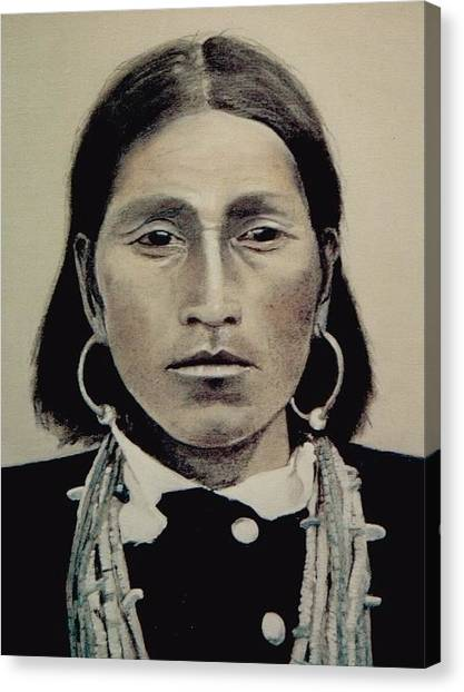 Hopi Woman Of The First Light Canvas Print