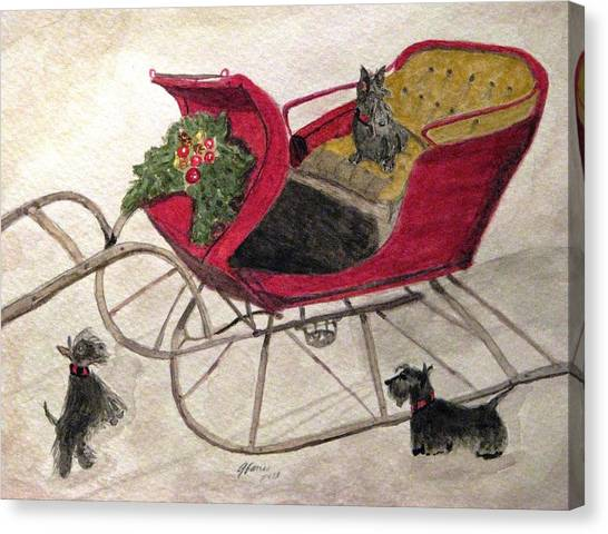 Hoping For A Sleigh Ride Canvas Print