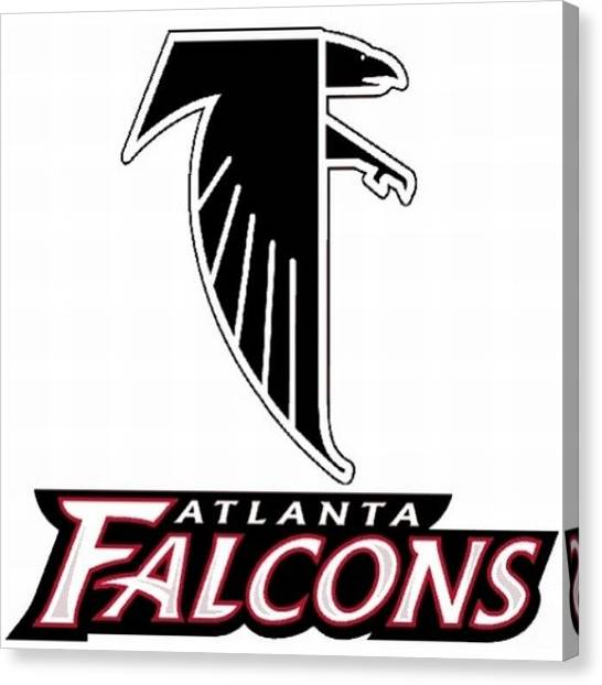Atlanta Falcons Canvas Print - Hoping To Come Out Of Work To Some Good by Kyle Walker