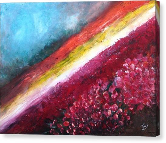 Horizon Flowers Canvas Print
