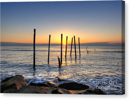 Horizon Sunburst Canvas Print