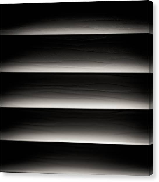 Horizontal Blinds Canvas Print