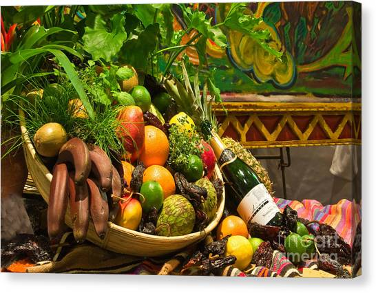 Canvas Print featuring the photograph Fruit And Wine 1 by Mae Wertz
