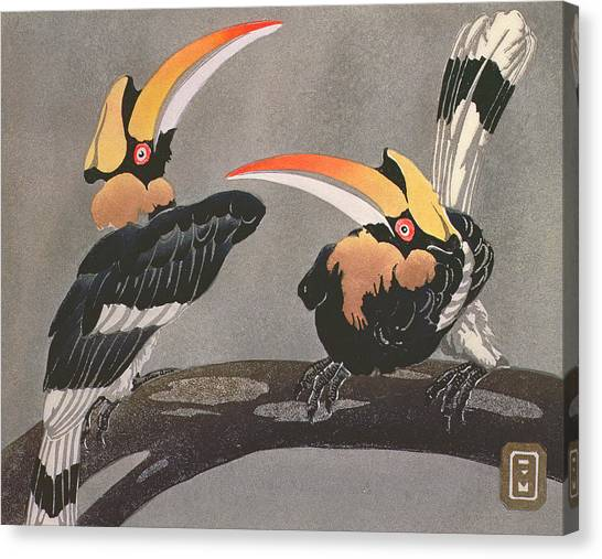 Hornbill Canvas Print - Hornbills by Ethleen Palmer
