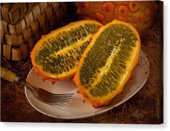 Horned Melon0541 Canvas Print