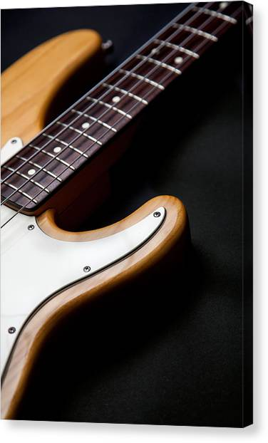 Bass Guitars Canvas Print - Horns II by Peter Tellone