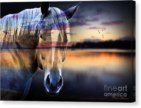 Race Horses Canvas Print - Horse 6 by Mark Ashkenazi