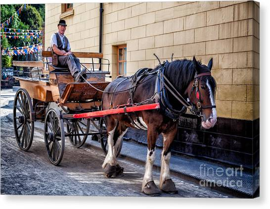 Bunting Canvas Print - Horse And Cart by Adrian Evans