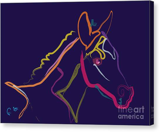 Horse - Colour Filly Canvas Print