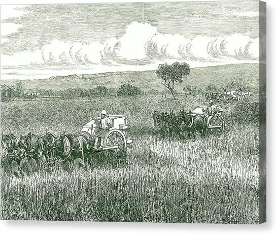 Combine Harvester Canvas Prints | Fine Art America