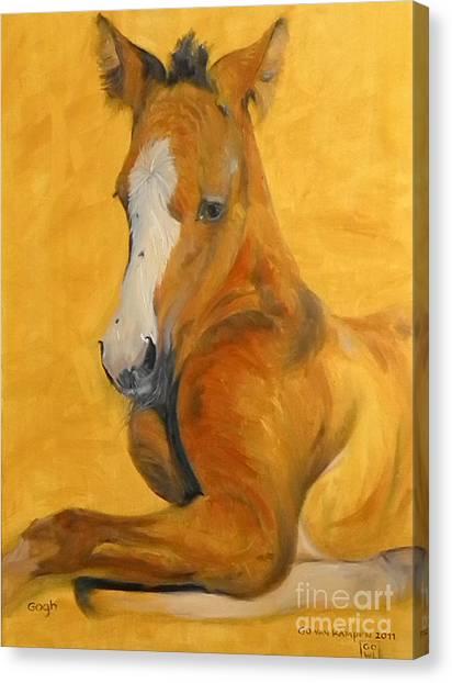 horse - Gogh Canvas Print