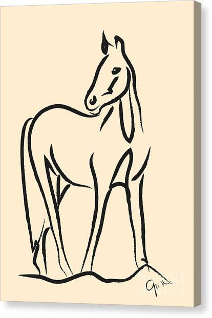 Horse - Grace Canvas Print