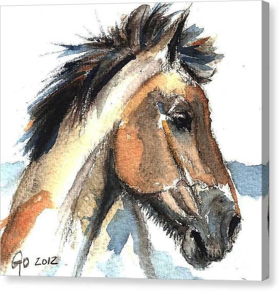 Horse-jeremy Canvas Print