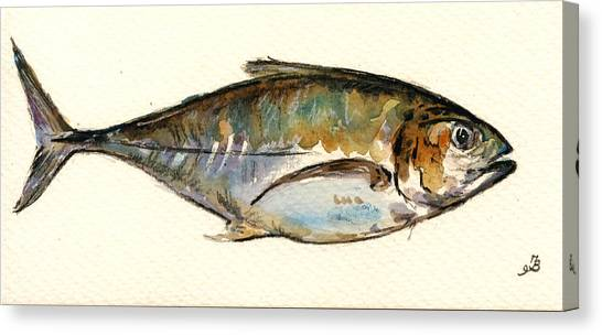 Atlantic Islands Canvas Print - Horse Mackerel by Juan  Bosco
