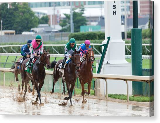 Horse Races At Churchill Downs Canvas Print