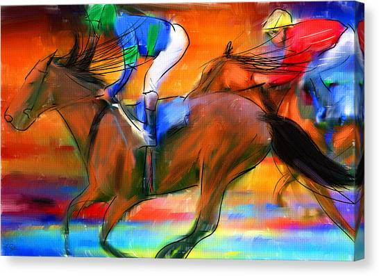 Horse Racing II Canvas Print