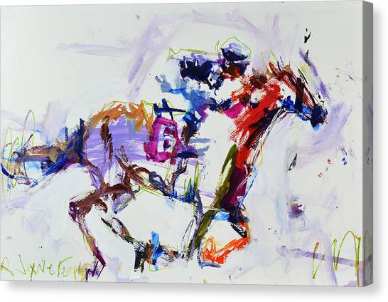 Horse Racing Print Canvas Print