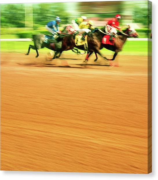 Horse Racing Canvas Print by Thepalmer
