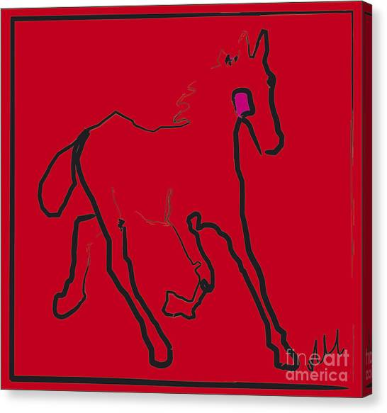 horse - Red filly Canvas Print