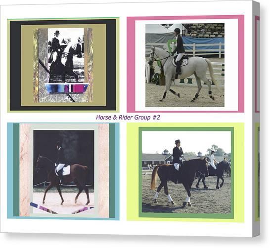 Horse Rider Group 2 Canvas Print