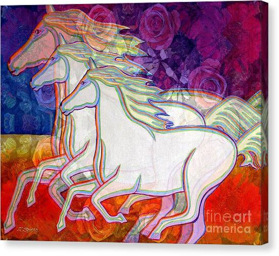 Horse Spirits Running Canvas Print