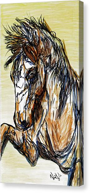 Horse Twins II Canvas Print