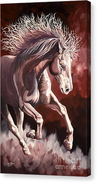 Horse Wild Fire Canvas Print